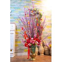 Pussy Willow Bunga Kotak Kipas Chinese Year Flower Box Angpao Imlek