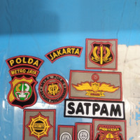 Logo atribut satpam bordir timbul lengkap