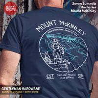 Kaos Baju Gunung Mount McKinley Seven Summit Mountain Hiking Navy Blue