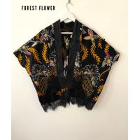kimono outer batik Mix tenun lurik gerimis