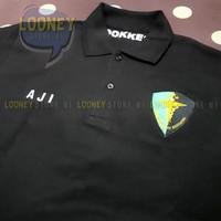Polo Shirt Full Custom Bordir DOKKES POLRI - BIG LOGO