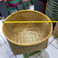 Bakul nasi jumbo bambu diameter 52 cm