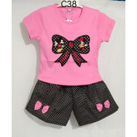 Chang Fashion Setelan Anak Perempuan Untuk Usia 3-9 Tahun (PM) - Pink, 3-5 thn