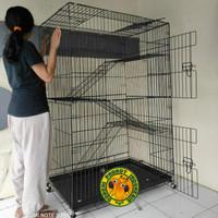 Kandang Kucing Super Jumbo Tingkat 100x60x150