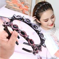 Bando jepit kepang rambut korea wanita dewasa manik berlian JEWEL
