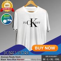 Kaos Tshirt Pria Dewasa Distro Keren Premium Plesetan Calvin Klein - Putih, M