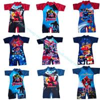 BAJU RENANG DIVING GAMBAR untuk anak tanggung TK-SD Baju Renang Anak - SPIDERMAN, XL