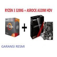 Paket Processor AMD Ryzen 3-3200G BOX + MB Asrock A320M-HDV