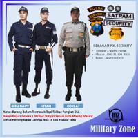 BAJU SERAGAM PDL SECURITY HITAM SATPAM KEAMANAN PDH SAFARI DRILL MURAH