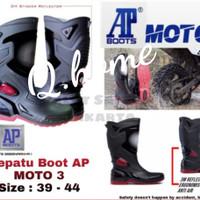 Sepatu boot karet safety / Sepatu boot proyek / Sepatu boot AP moto 3