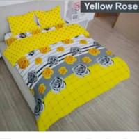 bed cover set Lady rose sprei Flat uk 160x200 motif Yellow Rose