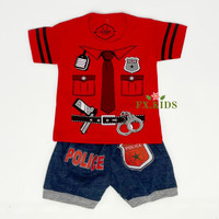 FX.KIDS setelan baju anak laki laki G2-BOY cotton denim ad1das halus