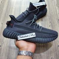 Sepatu Adidas Yeezy 350 V2 Black Grey Static