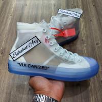 Sepatu Converse High Vulcanized Off White Transparent
