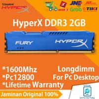 RAM HYPERX FURY DDR3 2GB PC12800 / 1600MHZ LONGDIMM KINGSTON GAMING