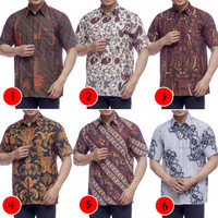 Kemeja Batik Pria Premium Lengan Pendek - Baju Batik Kantor Murah