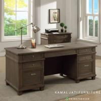 meja kantor kayu jati berkualitas meja direksi terbaru (meja direktur)