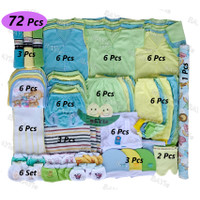 Paket Hemat Perlengkapan Baju Bayi Baru Lahir (New Born) POLOS WARNA 6