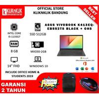 ASUS VIVOBOOK K413EQ I5 1135G7 8GB 512GB MX350 OHS BLACK/SILVER/GOLD