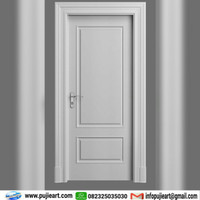 Pintu Single Kayu Minimalis Putih, Daun Pintu Kamar Kayu Mahoni Duco