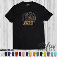 Kaos Distro / Baju Distro Pria Wanita / Tshirt Velg BBS RS Outlined