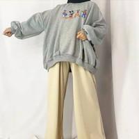 Atasan Sweater Crewneck Mickey Casual Thrift Style Oversize FS