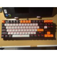 redragon k552 Mechanical Gaming Keyboard Black White Orange Theme mod