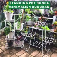 Rak Pot Tanaman Bunga Standing Planter 5 Dudukan Tanaman Minimalis - TIPE A
