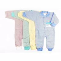Miyo Baju Kodok Bayi Jumper Panjang Salur Newborn 0-3 Bulan