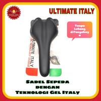 ULTIMATE ITALY Sadel Sepeda Gel Tanpa Lubang