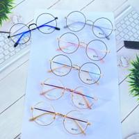 Kacamata bulat ringan free lensa minus - Bluecromic