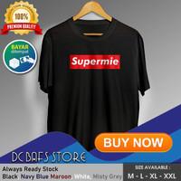 Kaos Tshirt Cowok Pria Dewasa Distro Terbaru Premium Plesetan Supreme - Putih, M