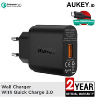 Aukey Charger Rumah 1 output PA-T9 Fast Charging (qualcomm) Surabaya