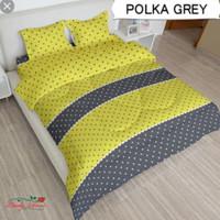 bed cover set Lady rose sprei Flat uk 160x200 motif Polka Grey