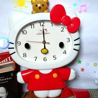 Cumiichan Jam Dinding JUMBO Hello Kitty with Rillakuma