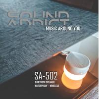 Speaker Lampu SOUNDADDICT SA-502 LED Bluetooth Speaker - White Grey