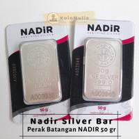 Perak Batangan Nadir 50 gram silver bar 50g perak Turki 50gr not Antam