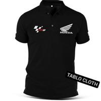 Polo shirt Pria Kaos kerah motogp honda