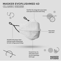 Masker Kain 4D Evo PlusMed w/ Earloop ( 4 Ply ) - Khaki