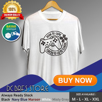 Baju Kaos Tshirt Distro Keren Premium Gaming Gamers Born To Game - Putih, M