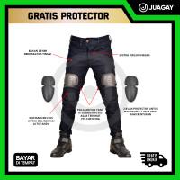 Celana Biker Jeans Denim Riding Motor Touring Pria Bikers Protector