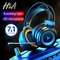 Headphone Gaming Headset PC Laptop Surround 7.1 RGB with Mic