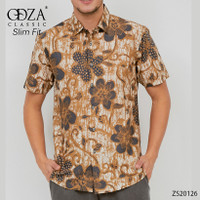 Kemeja Atasan Batik Pria Lengan Pendek Baju Batik Cowok Solo Slim Fit