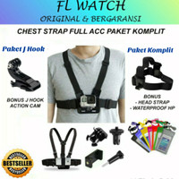 Chest Strap HP Tali Dada Handphone Action Camera Mount Full Set