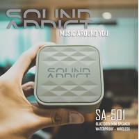 SoundAddict SA-501 Mini Bluetooth Speaker - Grey