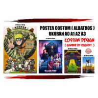 POSTER ANIME ATTACK ON TITANT / AOT / CUSTOM GAMBAR DEKORASI KAMAR - A4, Custom Gambar
