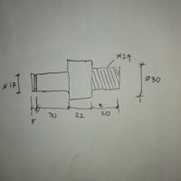 custom ukuran bubut as bahan besi + mur