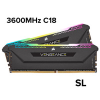 VENGEANCE RGB PRO SL 16GB (2x8GB) 3600MHz C16 CMH16GX4M2D3600C18 - Hitam