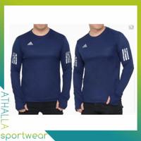 baju kaos running lari gym fitnes olahraga PRIA lengan panjang