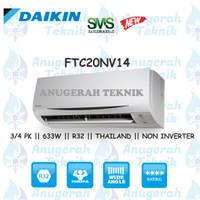 AC SPLIT DAIKIN 3/4 PK 3/4PK R32 THAILAND NON INVERTER - FTC20NV14